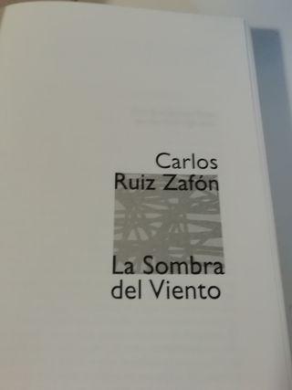 Libro LA SOMBRA DEL VIENTO Carlos Ruiz Zafon