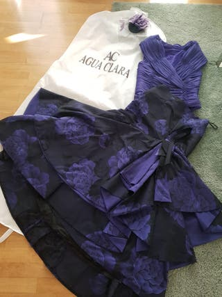 Vestido de fiesta + tocado (AguaClara)