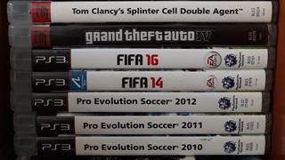 PS3. Pro evolution. Fifa. Gta. Tom clancys
