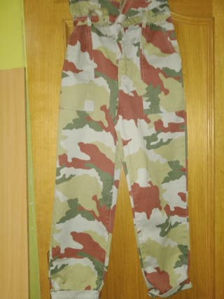 pantalones zara militares