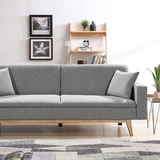 Sofá cama gris clic clac sillón silla asiento