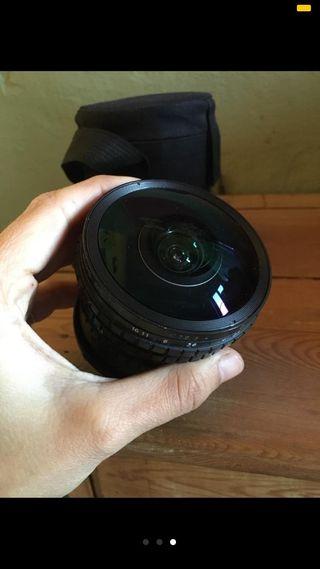 Objetivo ojo de pez Peleng 8mm f/3.5 para Canon