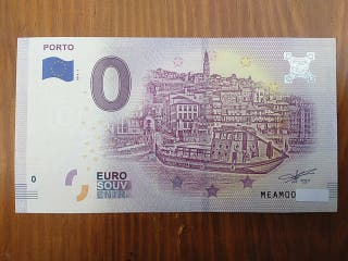 Billete 0 euros. Eurosouvenir.
