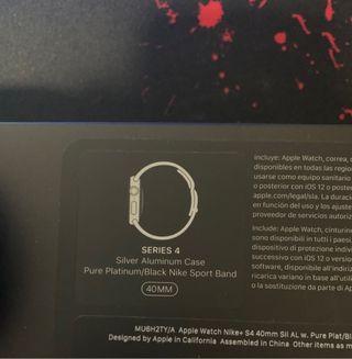 Apple Watch serie 4 40mm nike