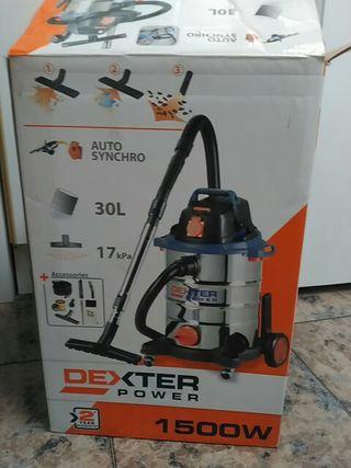 aspirador agua y polvo 30L. autosincronización