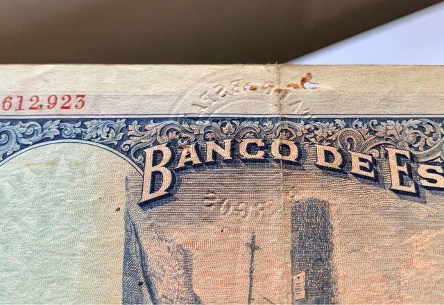 Billete 50 Pesetas 1927 (SELLO SECO )