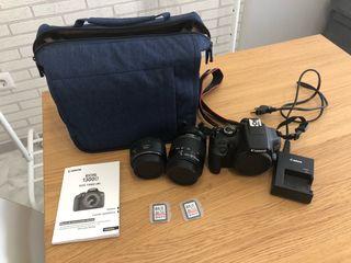Cámara de fotos Réflex Canon EOS 1300D y kit