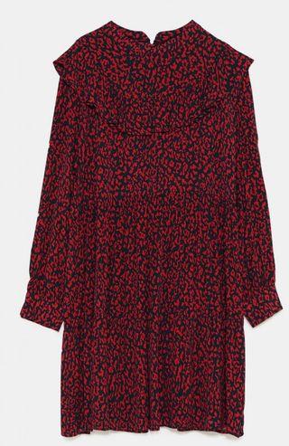 De Print Zara Segunda 95 Rojo Mano Por Vestido Animal 29 AL3R54jq