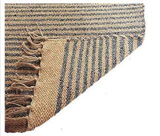alfombra de yute y algodon