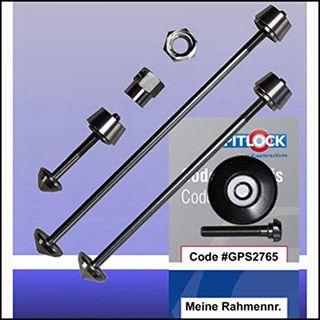 Pit Lock Set 02 para rueda delantera, trasera,tija