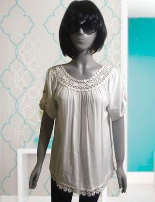 Blusa blanca Talla L