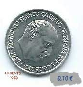 MONEDAS 10 CTS. 1959