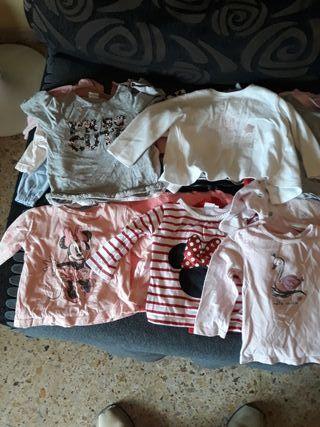 camisetas de 6-12meses invierno y verano