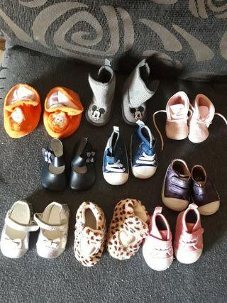 lote de 0-9meses zapatos a 4 euros muy nuevos