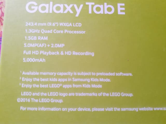 tablet Samsung tap E
