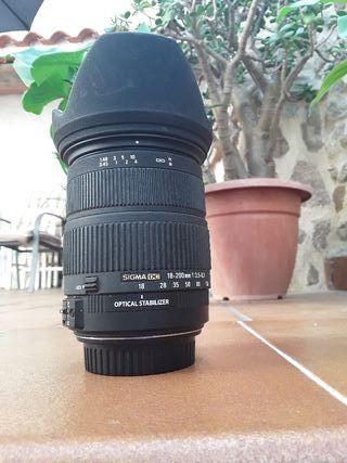 Sigma 18-200 OS estabilizado-Canon EF