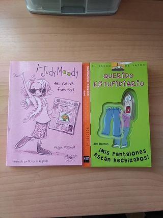 Libros infantiles con ilustraciones.