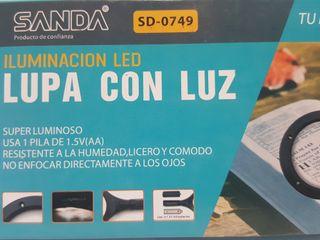 Lupa Mano Iluminacion Luz Led Monedas