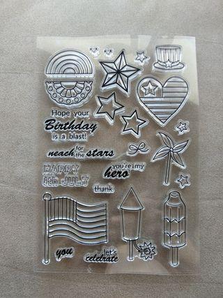clear stamp USA sellos silicona acrílicos
