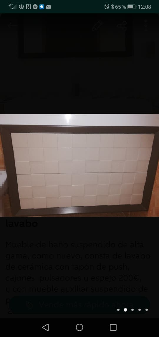Mueble baño suspendido alta gama 80cm