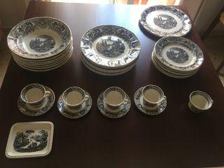 Vajilla de porcelana La Cartuja de Sevilla