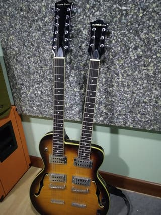 Guitarra doble mástil Harley Benton