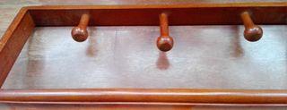 perchero - galán de madera