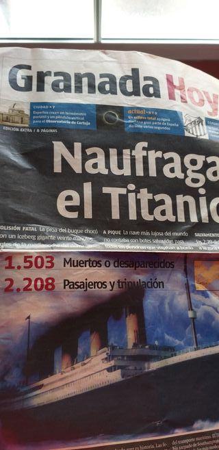 Periódico, , Titanic. Exposición Madrid