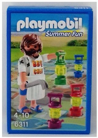 Playmobil: chef de barbacoa & juego de mesa NUEVO