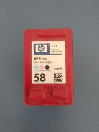 Cartucho de tinta color 58 para impresora HP