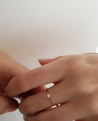 Anillo compromiso diamante solitario