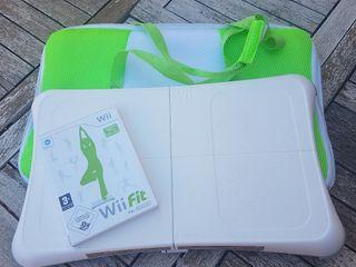 Wii fit juego + tabla wii balance board+ bolsa