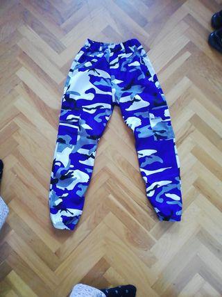 Pantalones militares morados