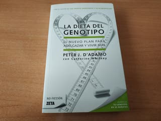 Libro La Dieta del Genotipo. Peter J.D'Adamo