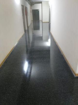 cristalero y pulidor de suelos