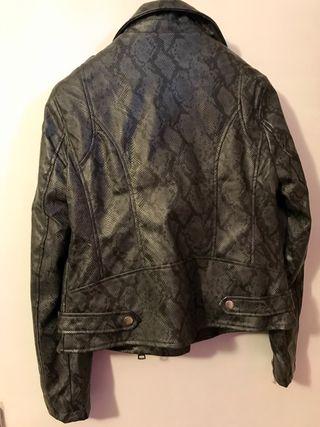 Snake PU biker jacket
