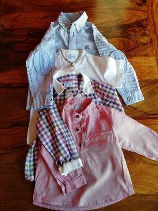 lote de camisas niño Foque.
