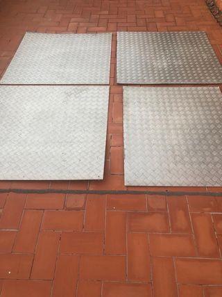 Chapas antideslizantes de aluminio