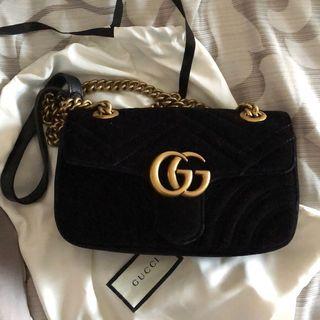 Authentic Gucci marmont velvet bag