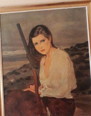 Retrato de dama cazadora
