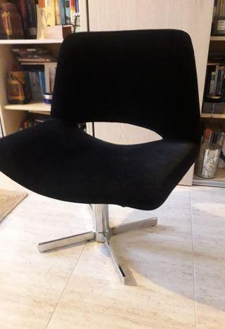 sillón terciopelo negro