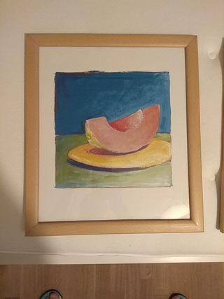 2 cuadros motivos de frutas