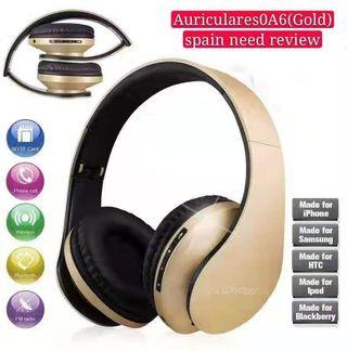 Auriculares de diadema bluetooth cascos