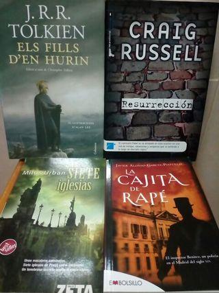 Pack de cuatro novelas.