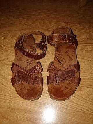 Sandalias Panamá Jack de piel