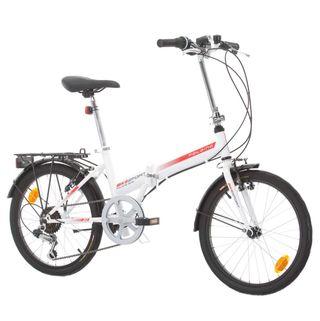 Bicicleta plegable blanca + casco