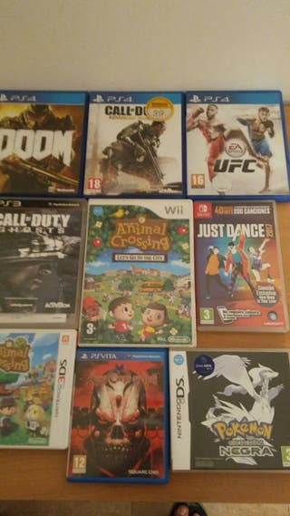 Lote juegos PS4, PS3, 3DS, Switch, Wii, PS Vita