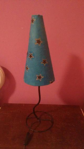 Lámpara Hada azul con estrellas