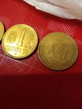 monedas peseta de plata beja