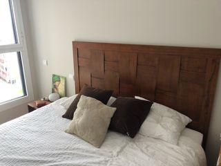 Cabecero estilo rústico cama doble